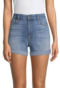 7 For All Mankind Jen7 by Cotton Denim Shorts