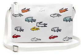 Lacoste Women's Concept Croc Print Zip Crossover Bag