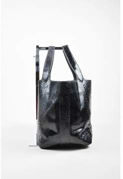 Alaia Pre-owned Black Snakeskin Leather Tote Bag.