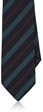 Drakes Drake's Men's Striped Silk Faille Necktie