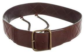 Max Mara Quilted Leather Belt