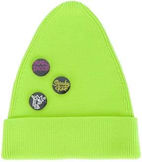Marc Jacobs button badge beanie