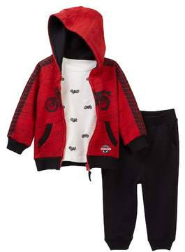 Little Me Motorcycle 3-Piece Jogger Set (Baby Boys)