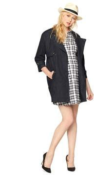 A Pea in the Pod Luxe Essentials Denim Cocoon Trench Coat