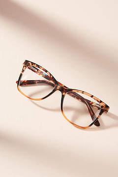 Anthropologie Mauve Tortoise Square Reading Glasses