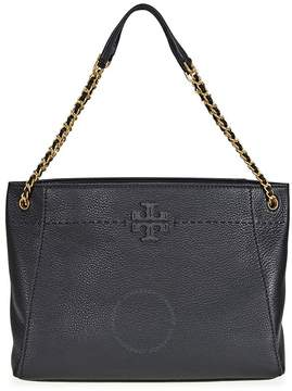 Tory Burch McGraw Slouchy Leather Tote - Black - ONE COLOR - STYLE