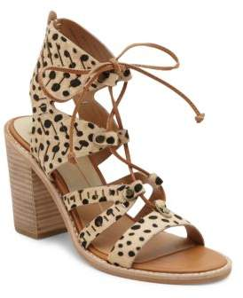 Dolce Vita Luci Leather Cutout Ghillie Lace Sandals