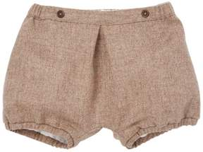 Marie Chantal Baby Boy Wool-Cashmere Bubble Shorts - Chocolate