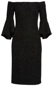 Eliza J Women's Off The Shoulder Bell Sleeve Sheath Dress