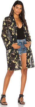 Bobi BLACK Chiffon Kimono
