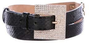 Dolce & Gabbana Embellished Snakeskin Belt