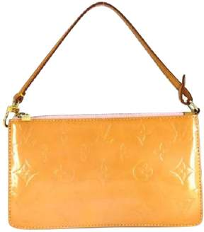 Louis Vuitton Pochette Accessoire patent leather clutch bag - YELLOW - STYLE