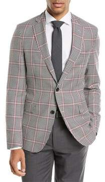 BOSS Windowpane Wool Sport Coat