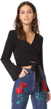 Flynn Skye Bell Long Sleeve Wrap Top