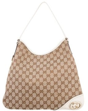 Gucci GG Canvas New Britt Hobo - NEUTRALS - STYLE