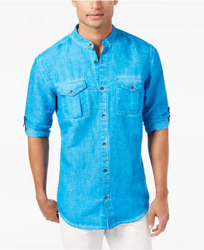 INC International Concepts I.n.c. Men's Garment Dye Linen Shirt, Created for Macy's