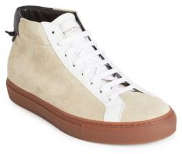 Givenchy Urban Street Leather Mid-Top Sneakers
