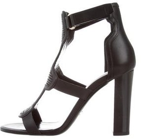 Balmain Leather Cage Sandals w/ Tags