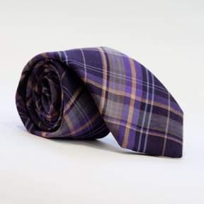 Blade + Blue Olive Plaid Brushed Cotton Tie