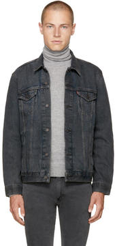 Levi's Levis Grey Denim Trucker Jacket