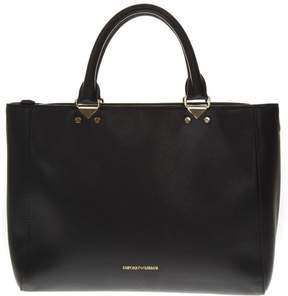 Emporio Armani Armani Black Faux Leather Bag