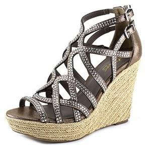 Thalia Sodi Sonya Open Toe Canvas Wedge Sandal.