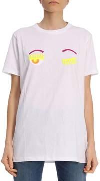 Chiara Ferragni T-shirt See You T-shirt Round Neck With Flirting Eyes