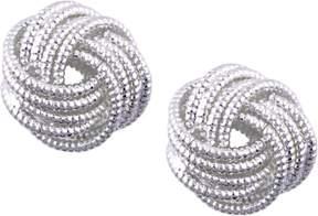 Nine West Silver Tone Metal Knot Earrings One Size Silver tone