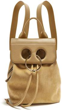 J.W.Anderson Pierce mini suede and leather backpack