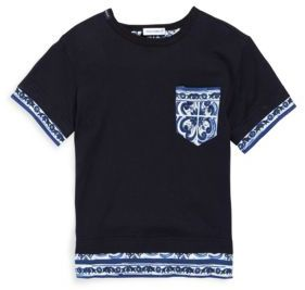 Dolce & Gabbana Toddler's & Little Boy's Contrast Short Sleeve Tee