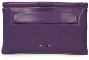 Miu Miu Nappa Leather Clutch - Purple