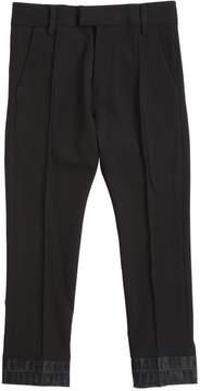 Diesel Wool Pants With Denim Hem