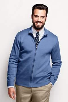 Lands' End Lands'end Men's Regular Performance Zip Cardigan Sweater
