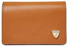 Aspinal of London Accordion Credit Card Holder In Smooth Natural Tan