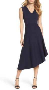 Eliza J Women's Knit Asymmetric Midi Dress