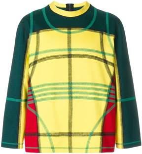 Craig Green multi check print sweatshirt