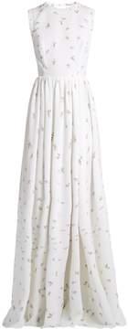 Emilia Wickstead Herbe sleeveless floral-print cloqué gown