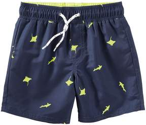 Osh Kosh Oshkosh Bgosh Boys 4-8 Shark & Sting Ray Swim Trunks