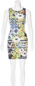 Clover Canyon Cutout-Accented Printed Dress