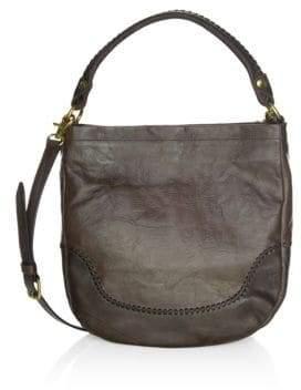 Frye Melissa Whipstitch Leather Hobo Bag