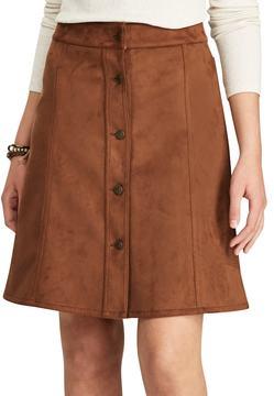 Chaps Women's Faux-Suede A-Line Skirt