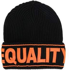 Versace Women's Icap007ik0127i464 Orange/black Wool Hat.
