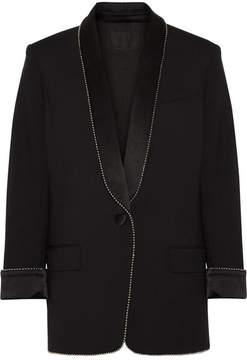 Alexander Wang Embellished Twill Blazer - Black