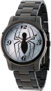Marvel Spiderman Mens Black Strap Watch-Wma000208