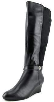 Giani Bernini Womens Dafnee Wide Calf Round Toe Leather Fashion Boots.