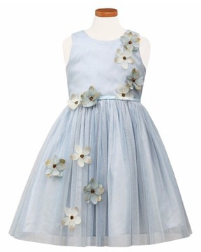 Sorbet Girl's Flower Applique Tulle Party Dress