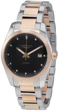 Longines Conquest Classic Black Diamond Dial Automatic Men's Watch