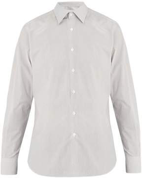Prada Classic-fit micro flower-print cotton shirt