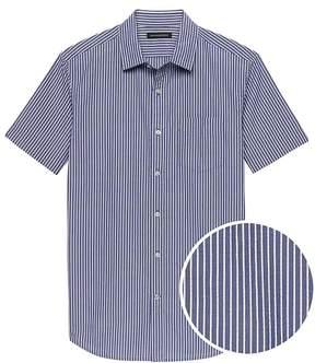 Banana Republic Grant Slim-Fit Seersucker Stripe Shirt