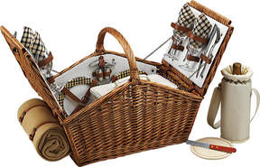Picnic at Ascot Huntsman Basket for Four with Blanket